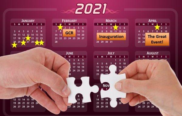 Calendar of events 2021